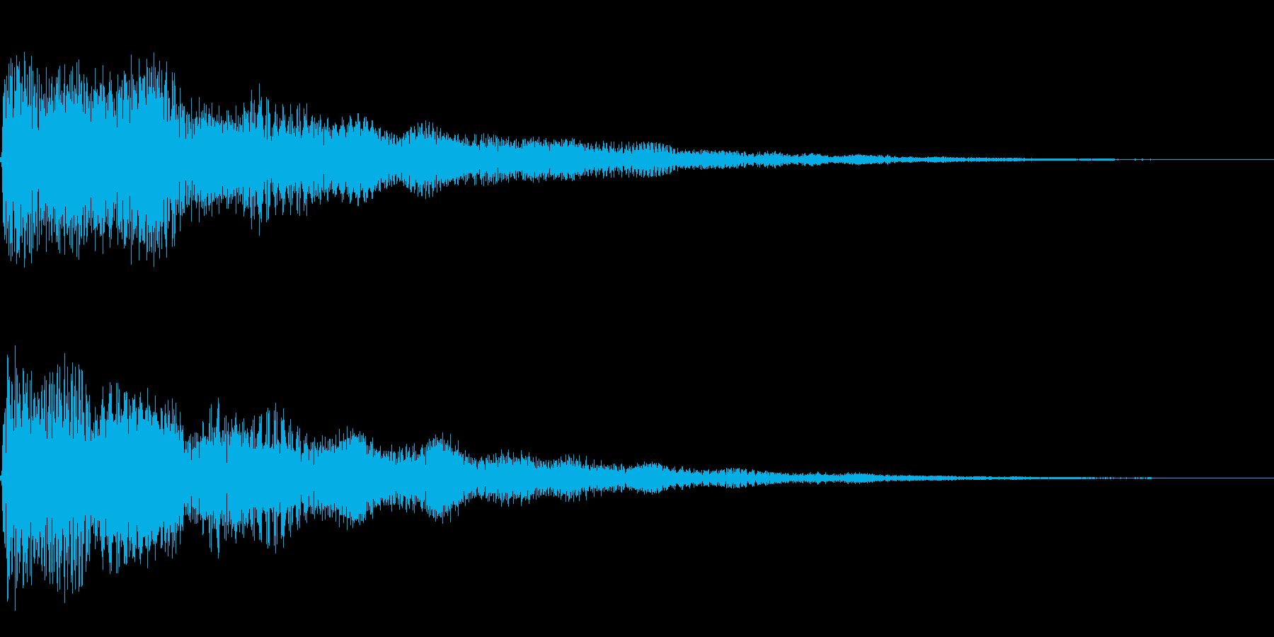 ベル、鐘(ガーン、ゴーン)の再生済みの波形