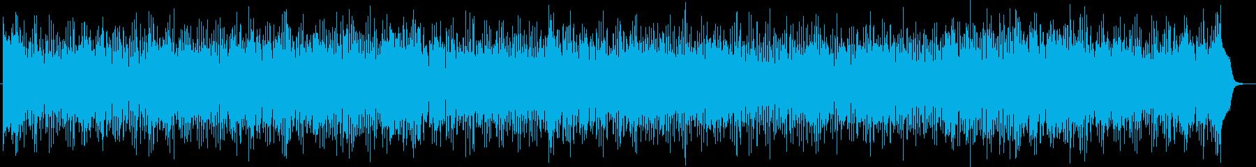 ロマンティックなシンセサイザーの曲の再生済みの波形