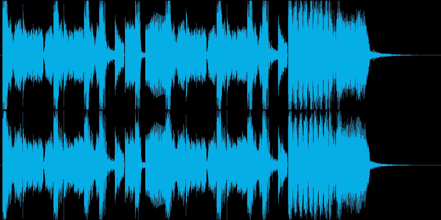 ブリブリとしたサウンドのダブステップの再生済みの波形