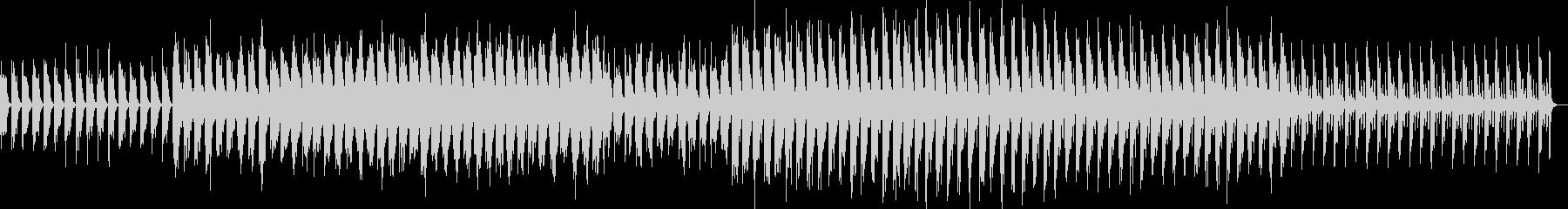 少しづつ変化するメロディの未再生の波形