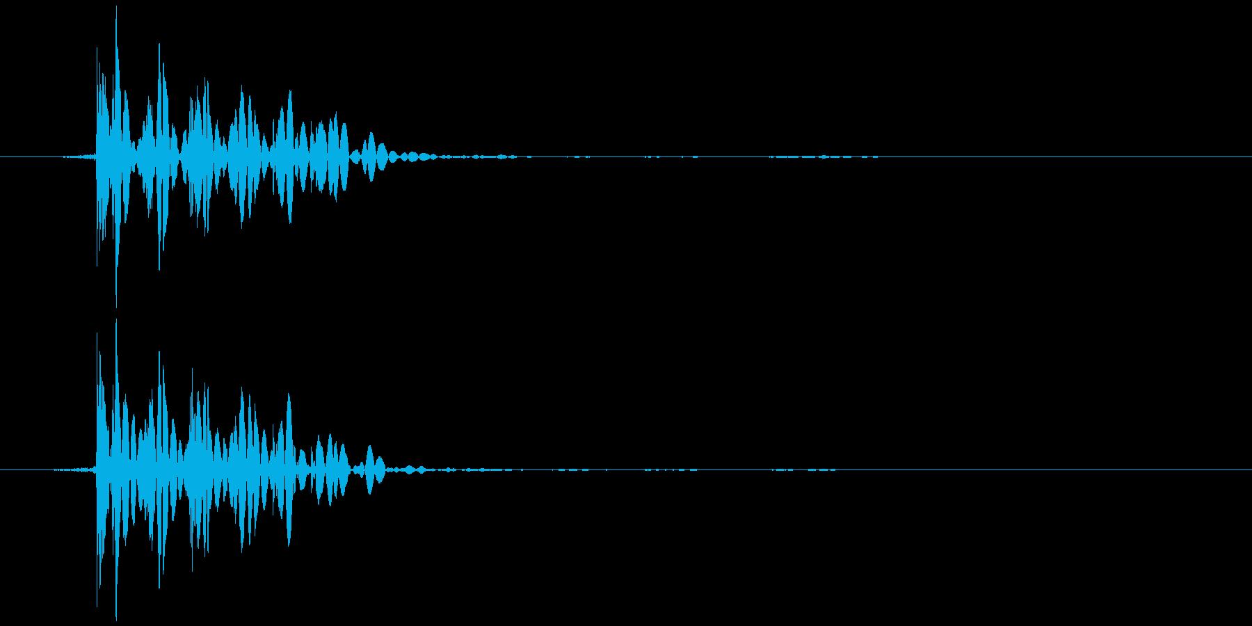 おなら、屁 (低く、とても短い) ブゥッの再生済みの波形