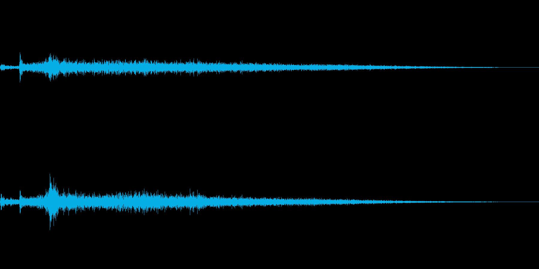 ザバーン(水辺に飛び込む音)の再生済みの波形