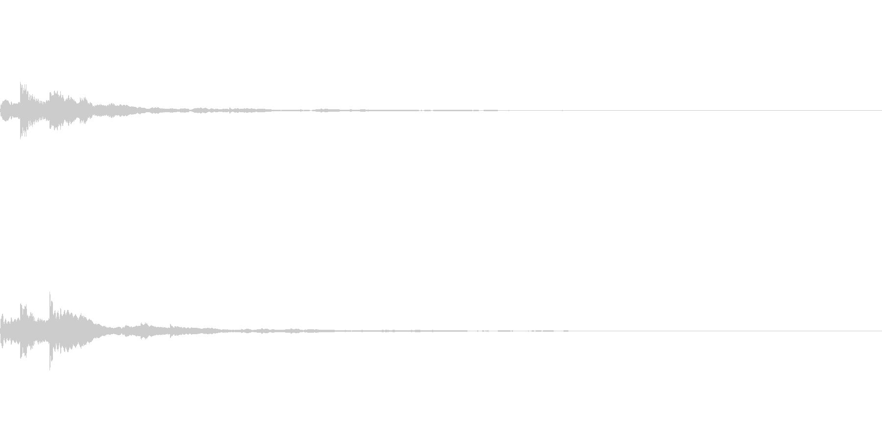 【SE 効果音】ティロリロんの未再生の波形