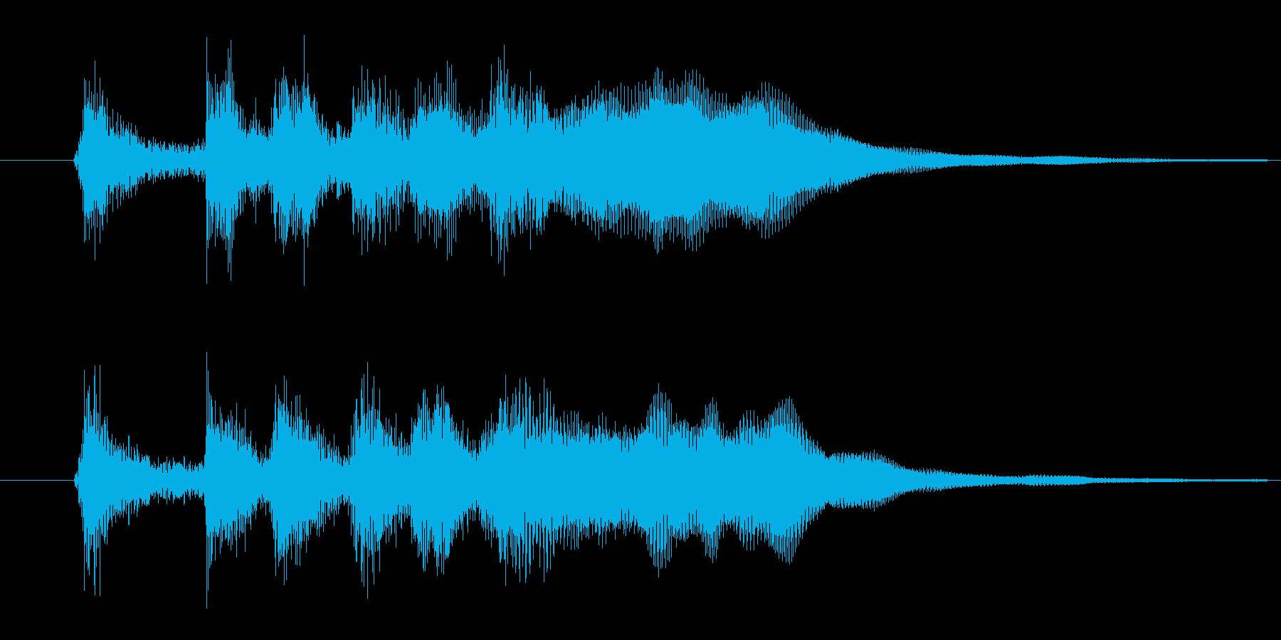 ファンファーレ(パッパパパパパーン)02の再生済みの波形