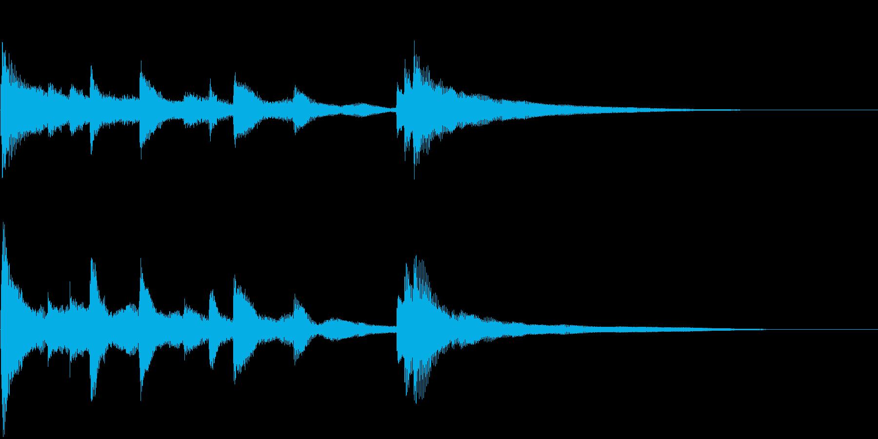 ピアノのショートジングル(中国風)の再生済みの波形