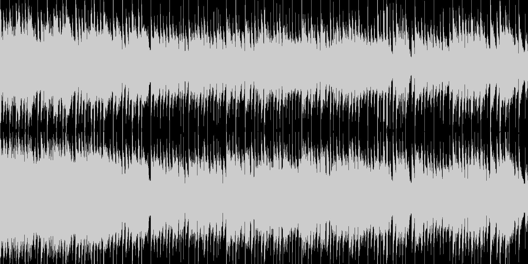 アコースティックギターの穏やかなワルツの未再生の波形