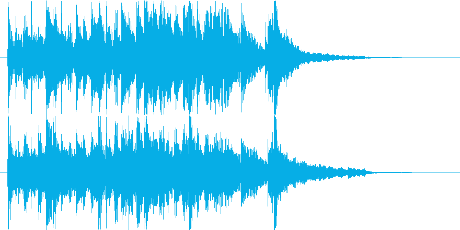 琴・尺八・和太鼓の上品な純和風ロゴの再生済みの波形