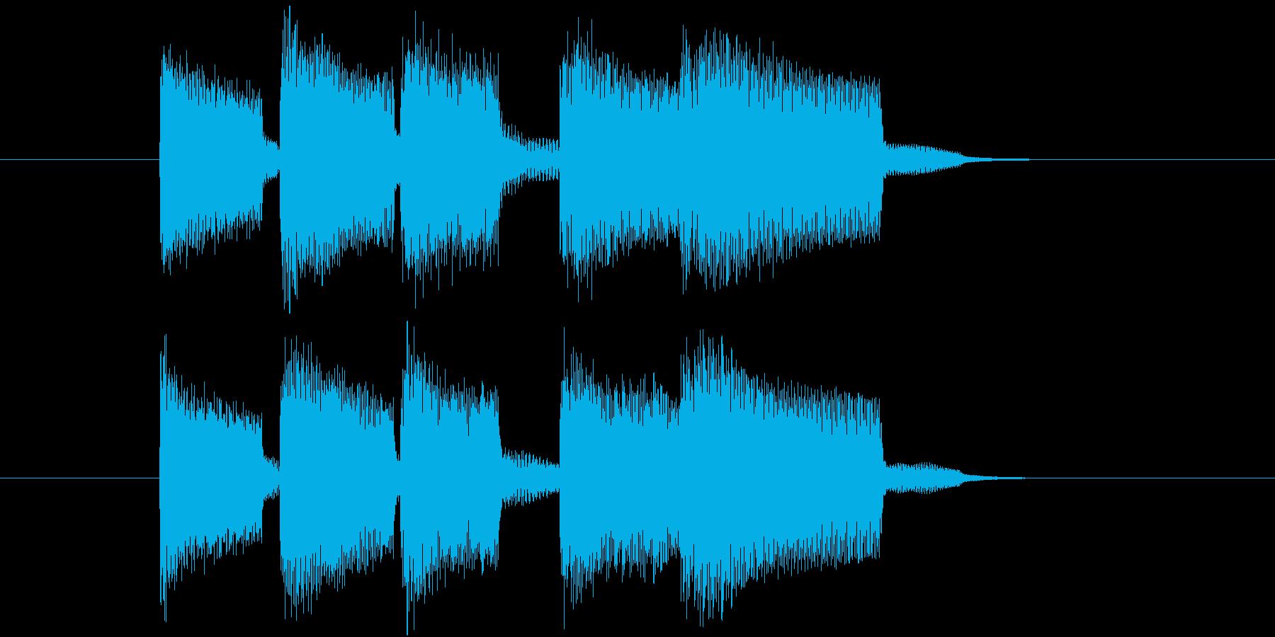 場面切り替えなどに使える終了音のジングルの再生済みの波形