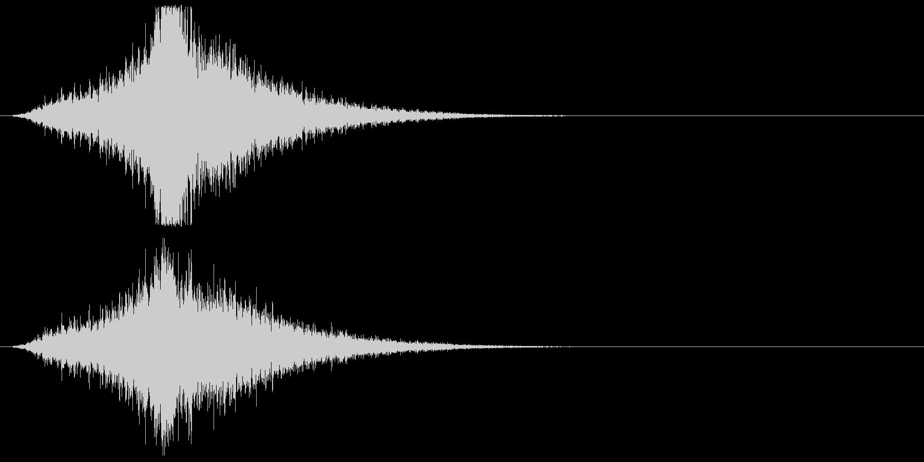 宇宙船・飛翔体#3通過 中央の未再生の波形