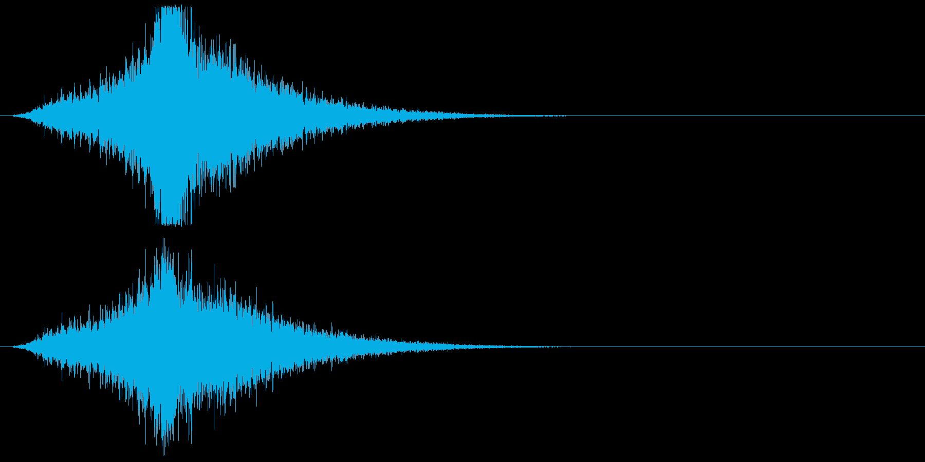 宇宙船・飛翔体#3通過 中央の再生済みの波形