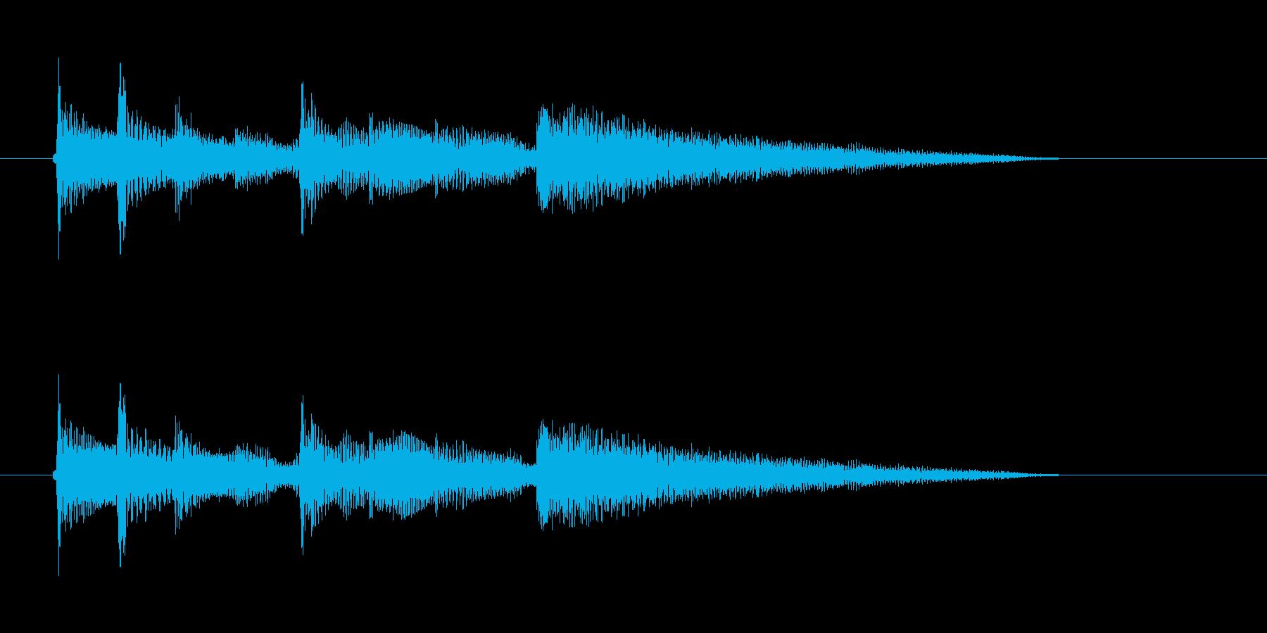 アコギ 思案する 物思う 切り替えの再生済みの波形