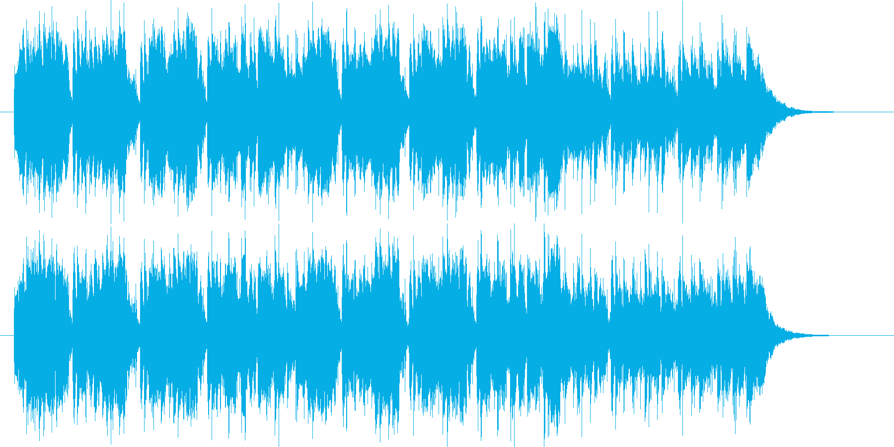 爽やかなボサノババンドのジングルの再生済みの波形