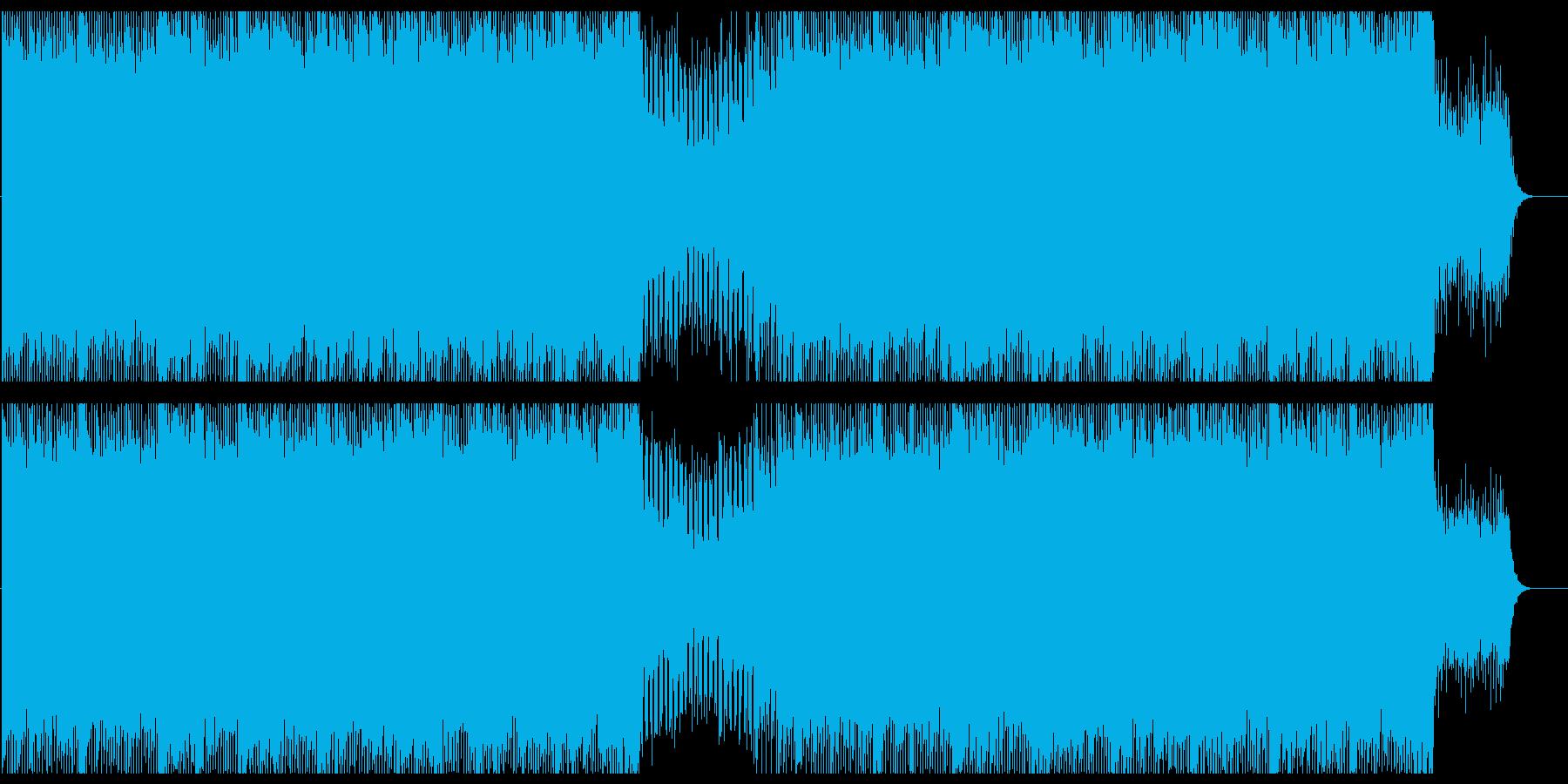 アップテンポで軽快なテクノポップサウンドの再生済みの波形