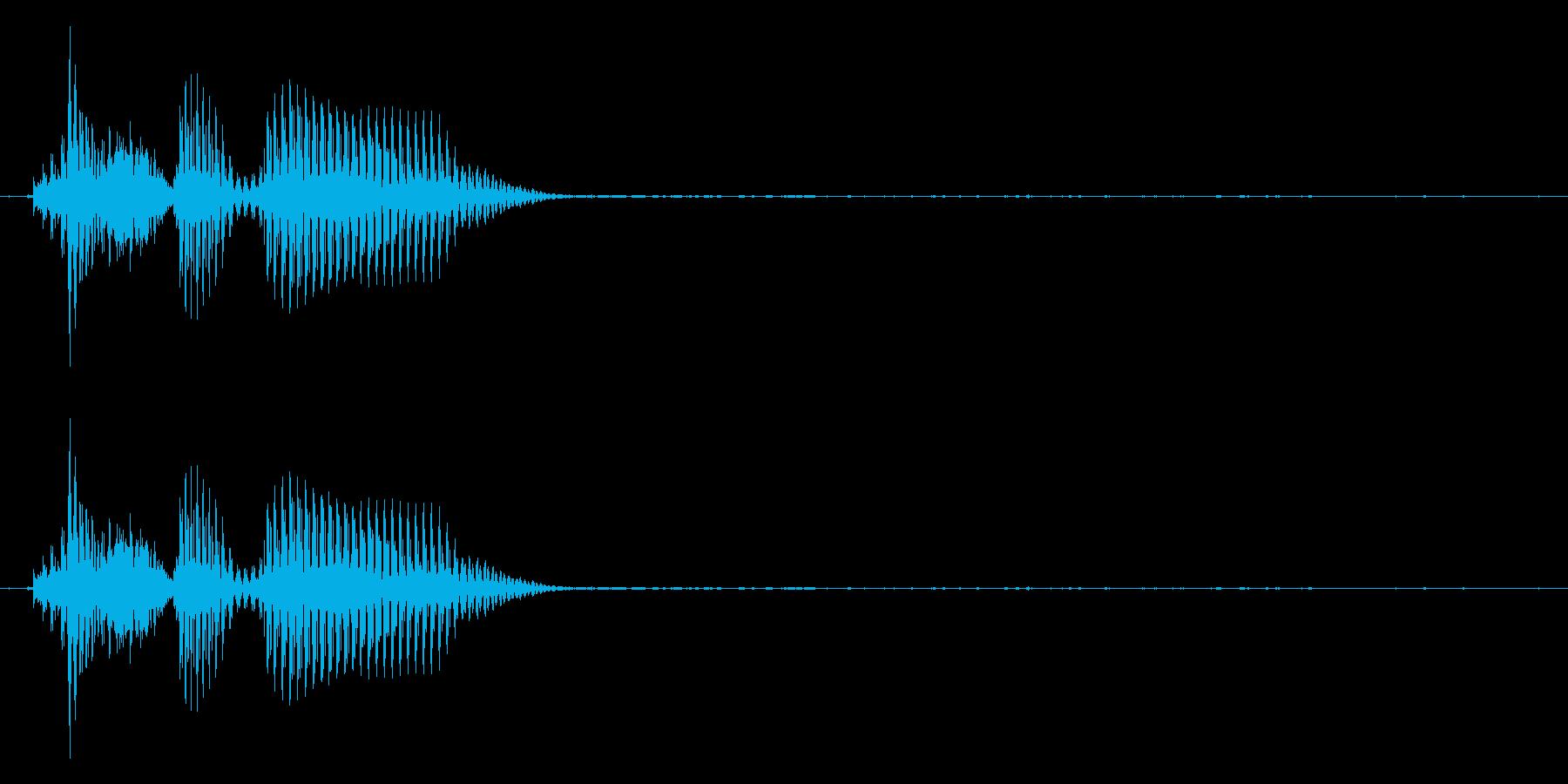 「朝だよ」(優しくささやくように)の再生済みの波形