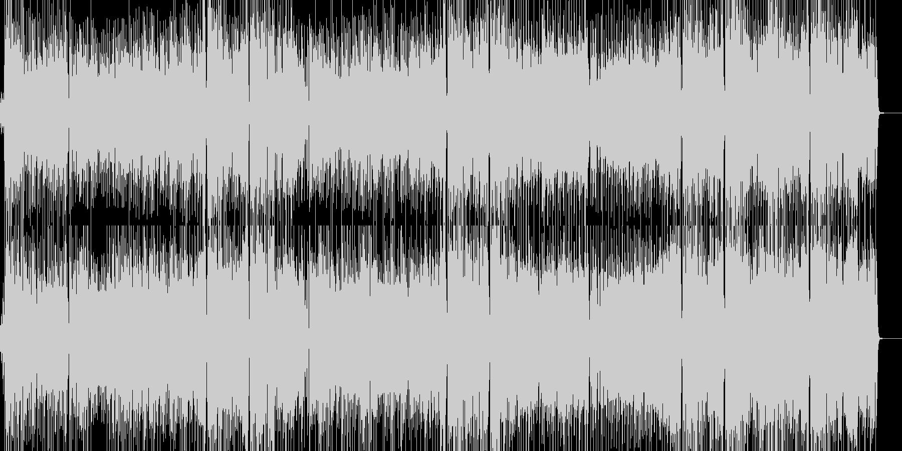 女性ボーカルのアップテンポでジャジーな曲の未再生の波形