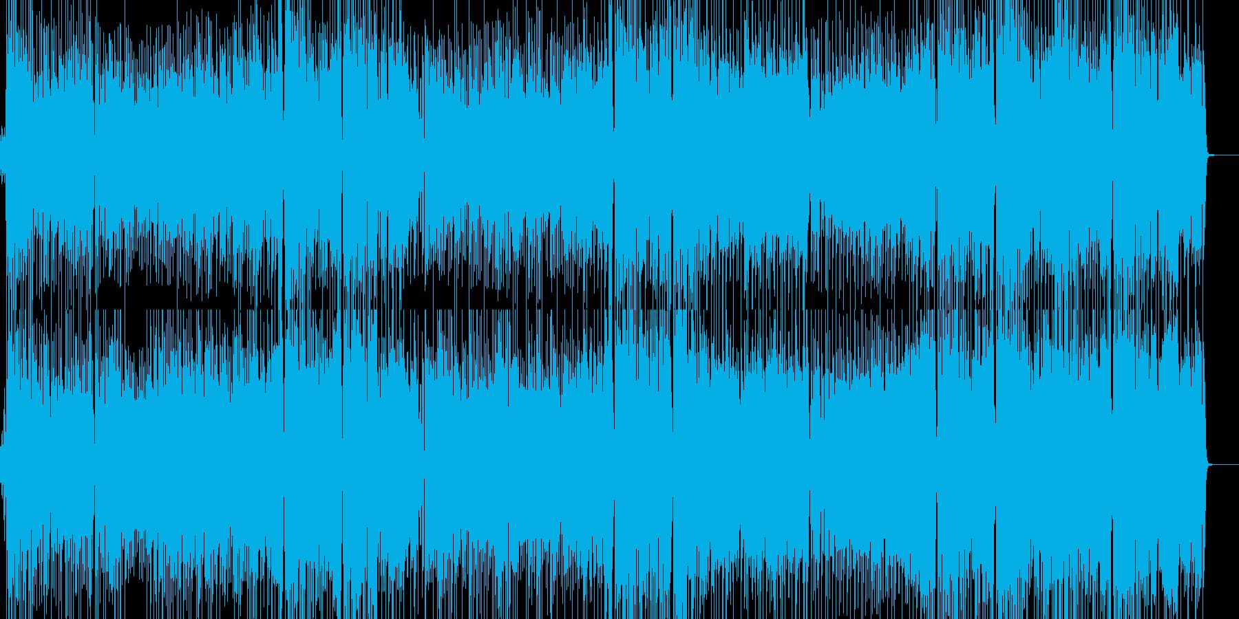 女性ボーカルのアップテンポでジャジーな曲の再生済みの波形