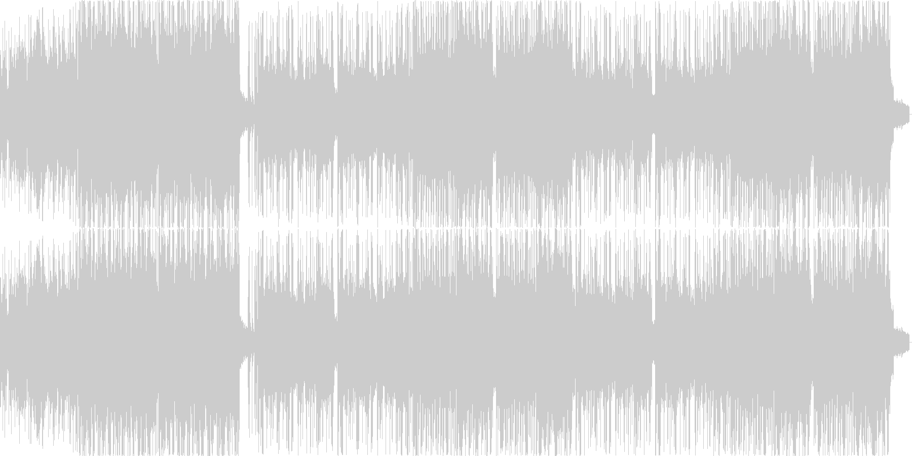 ミディアムテンポの激しいギター曲の未再生の波形