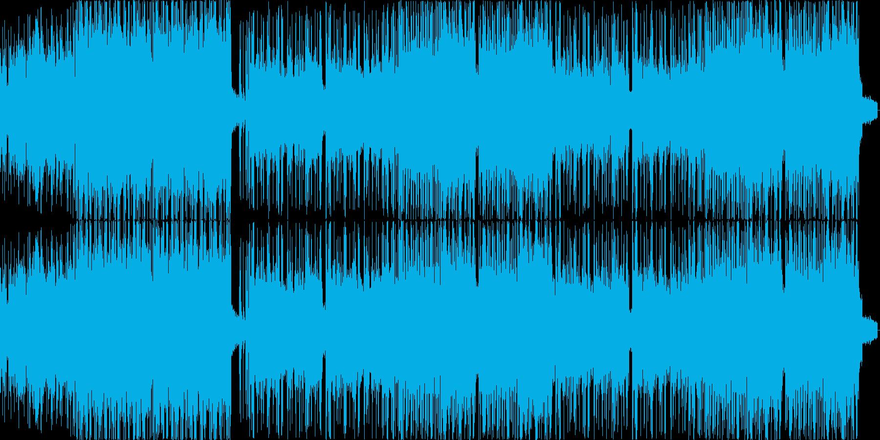 ミディアムテンポの激しいギター曲の再生済みの波形