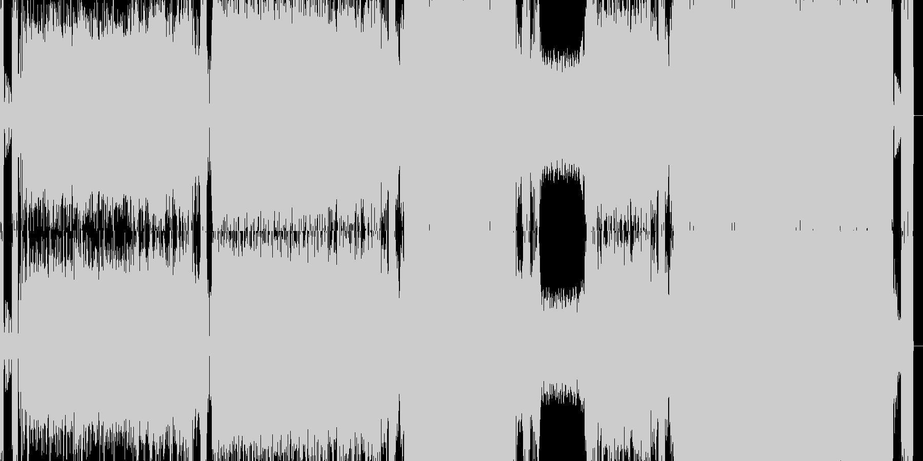 ギター ロック 重低音の未再生の波形