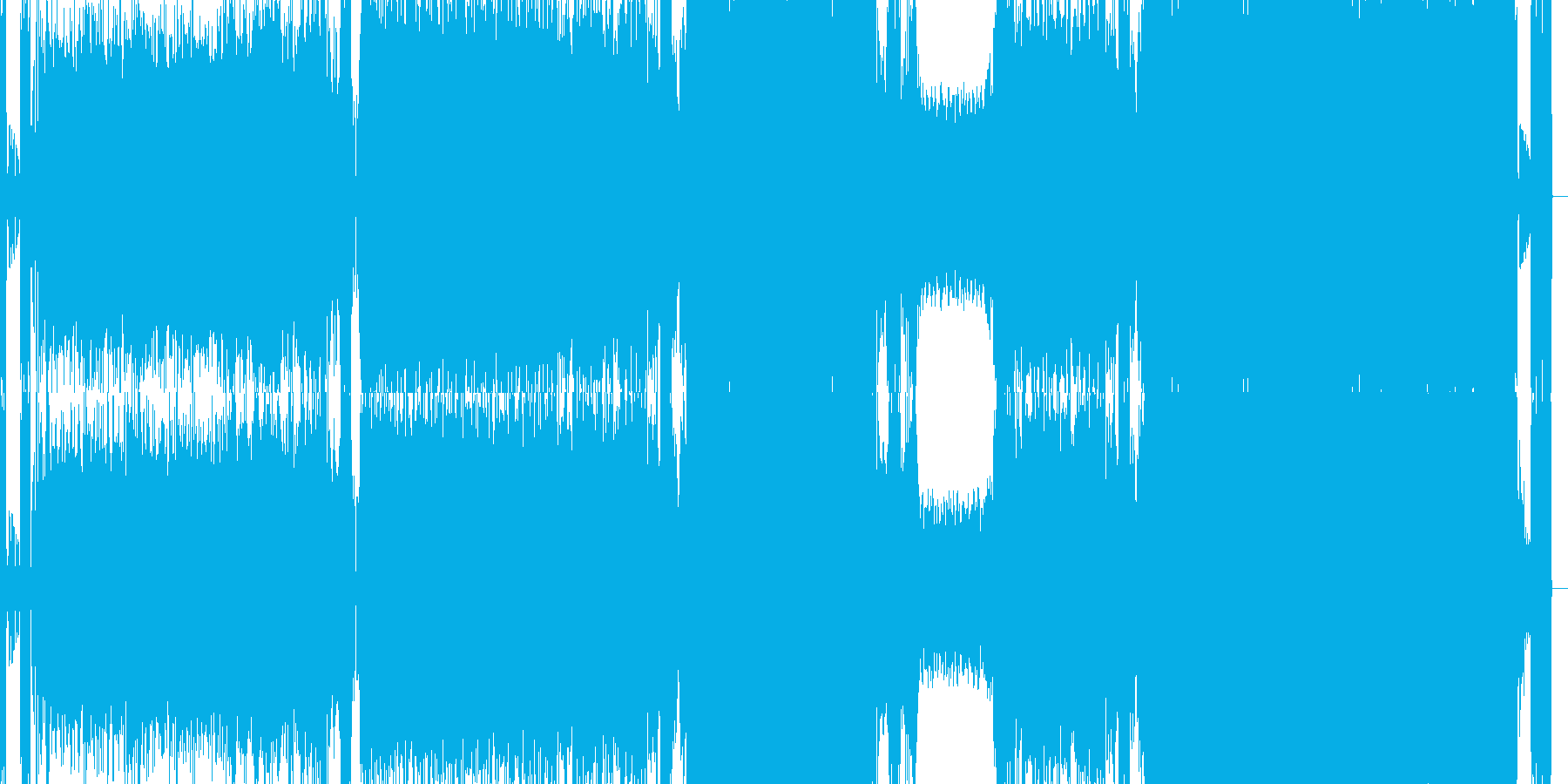 ギター ロック 重低音の再生済みの波形