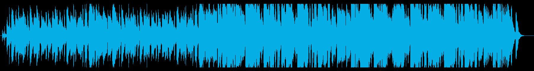 ショートムービー向けの明るいBGMの再生済みの波形