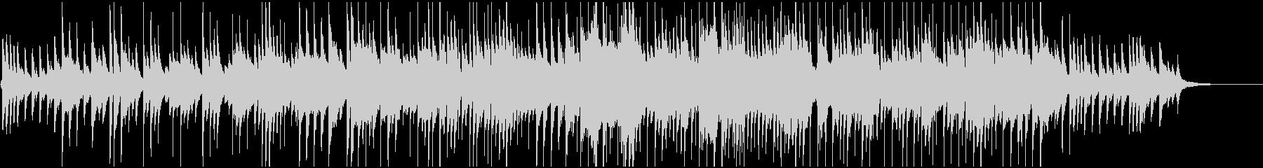 ゆったりピアノとシンセベルのBGMの未再生の波形