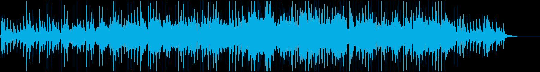 ゆったりピアノとシンセベルのBGMの再生済みの波形