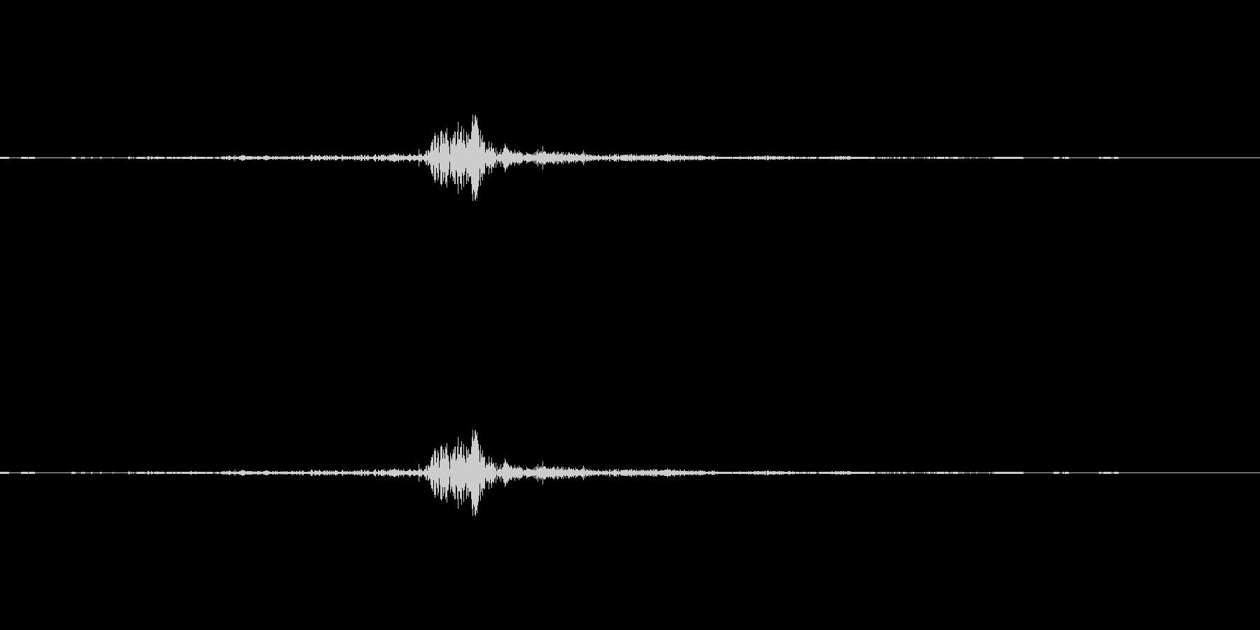 選択、スワイプ、スッ、収拾音の未再生の波形