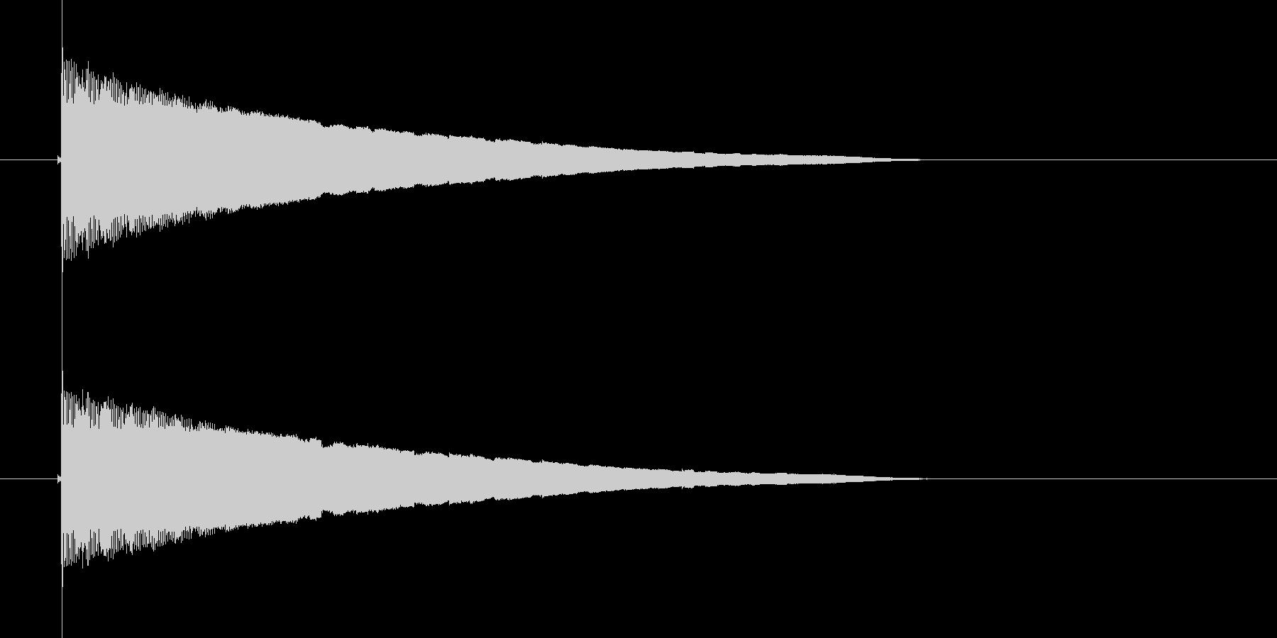 ピルルルルルルン(流れ星、物が流れる)の未再生の波形