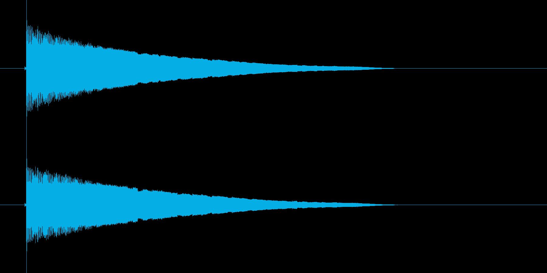 ピルルルルルルン(流れ星、物が流れる)の再生済みの波形