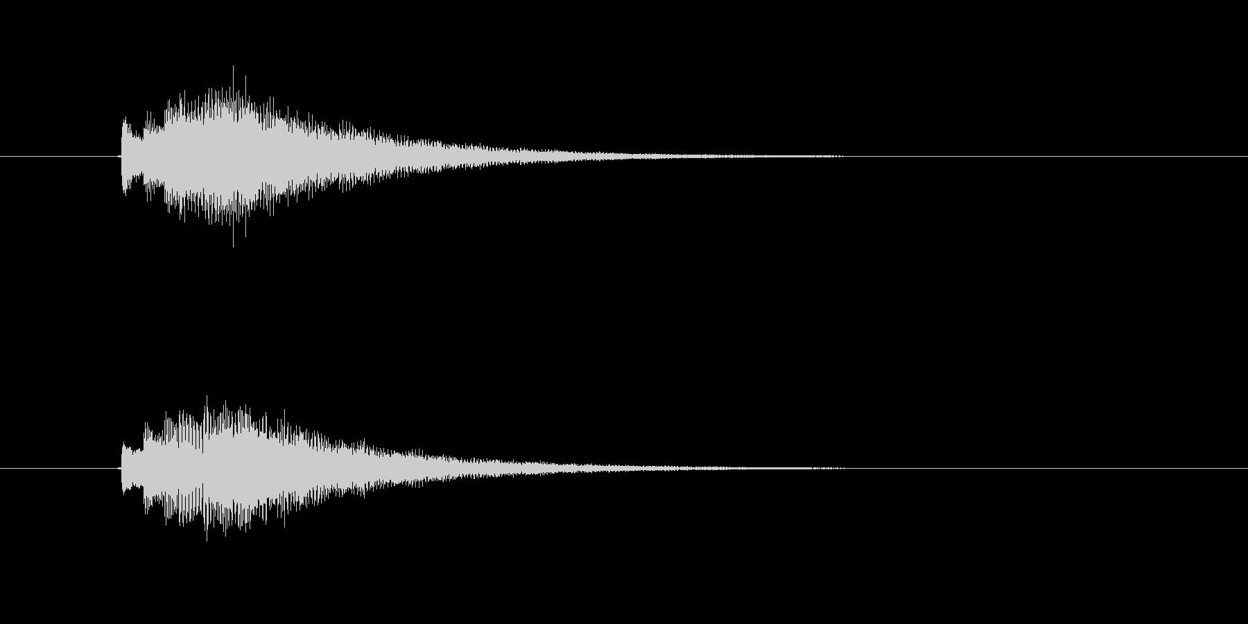 キラキラ、シンセのジングルの未再生の波形