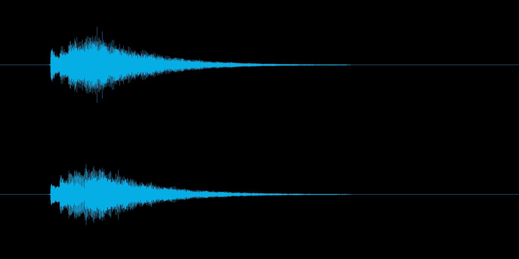 キラキラ、シンセのジングルの再生済みの波形