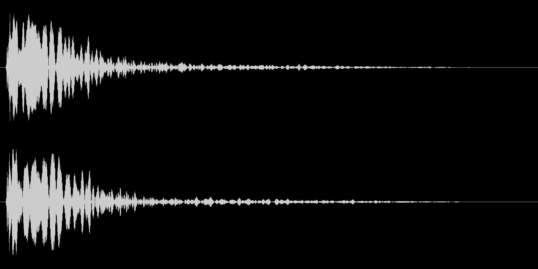 キューン(吸い込まれるような効果音)の未再生の波形