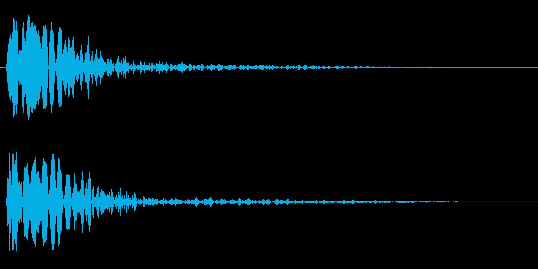 キューン(吸い込まれるような効果音)の再生済みの波形