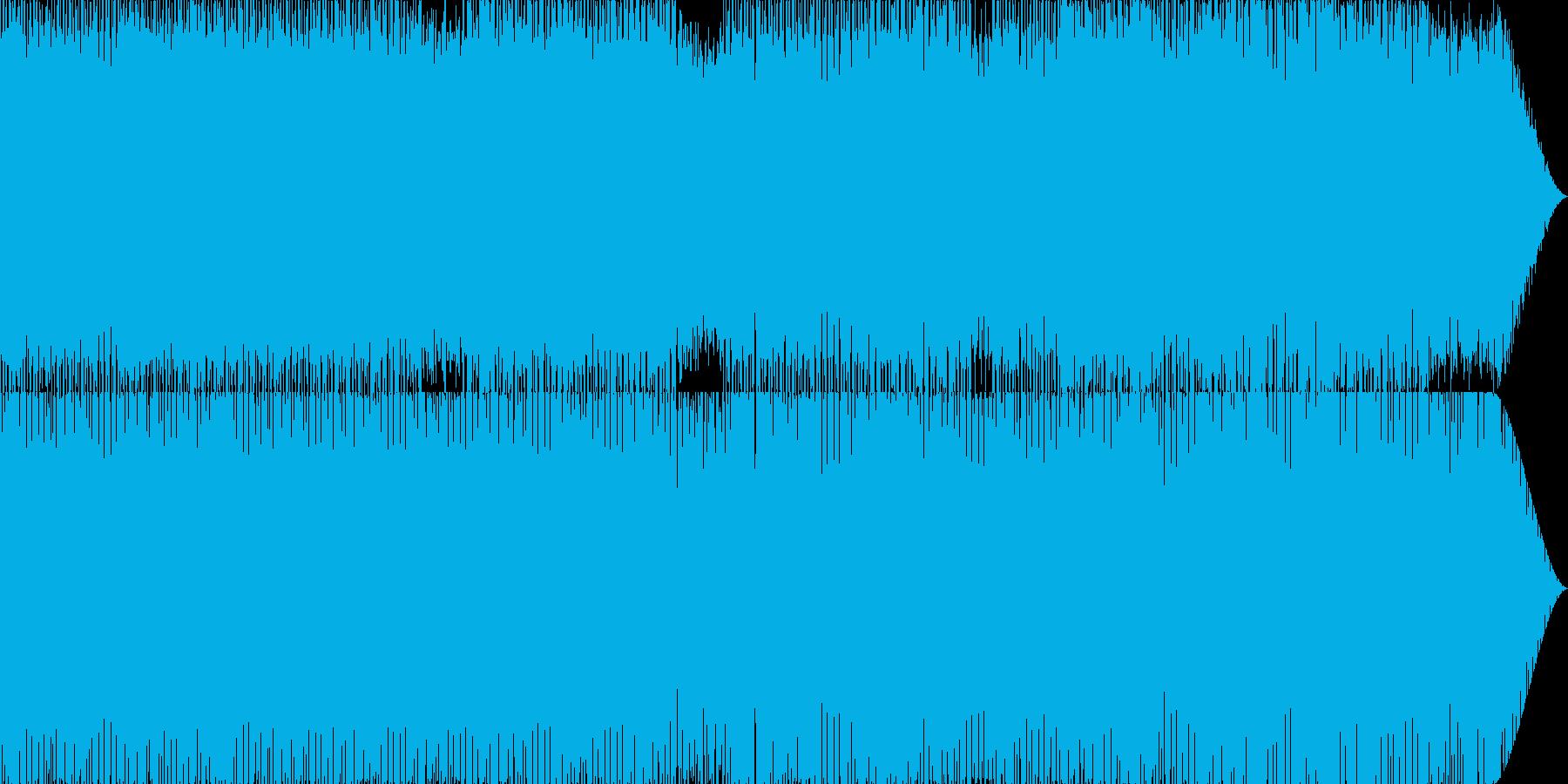 ゲームのボス戦闘シーンをイメージした曲の再生済みの波形