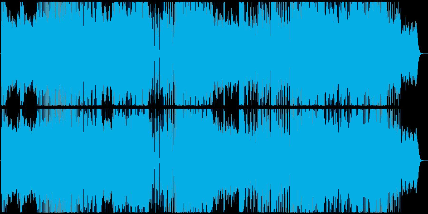 お洒落な癒し系80sハウスミュージッックの再生済みの波形