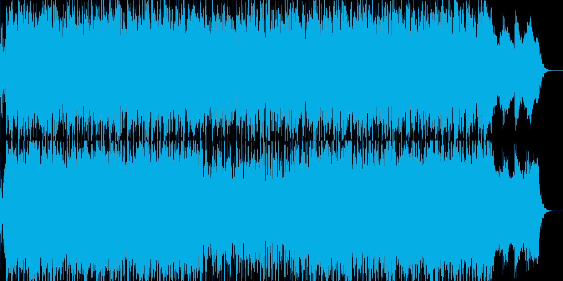 フュージョン風明るいポップス04の再生済みの波形