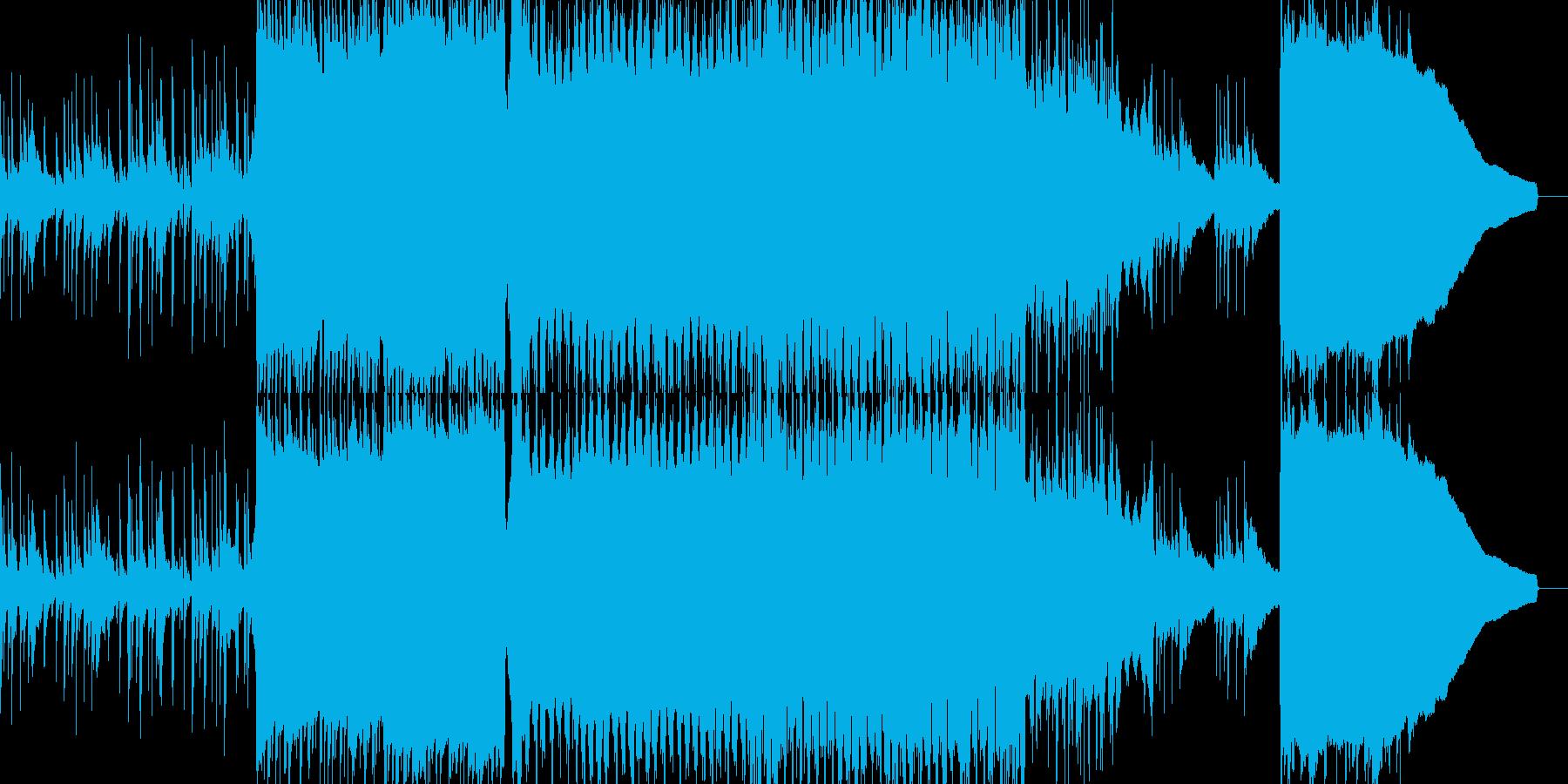ハッピーで爽やかなアコスティック曲の再生済みの波形