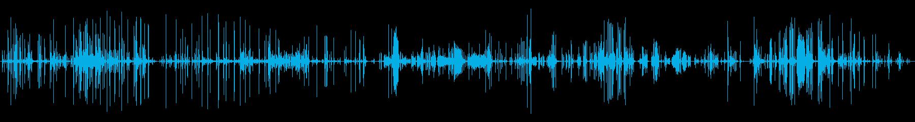 氷る音の再生済みの波形