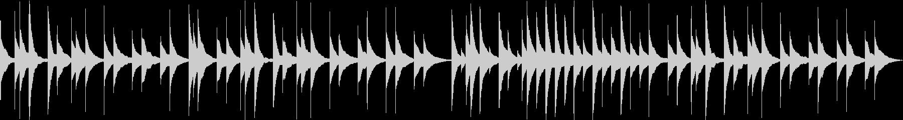 モーツアルト、ピアノソナタのオルゴールの未再生の波形