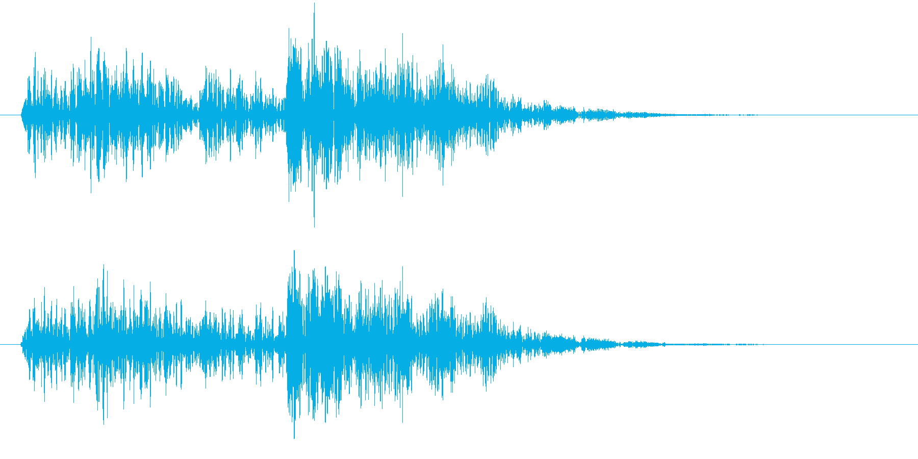 ーグムワァー(不思議な機械音)の再生済みの波形
