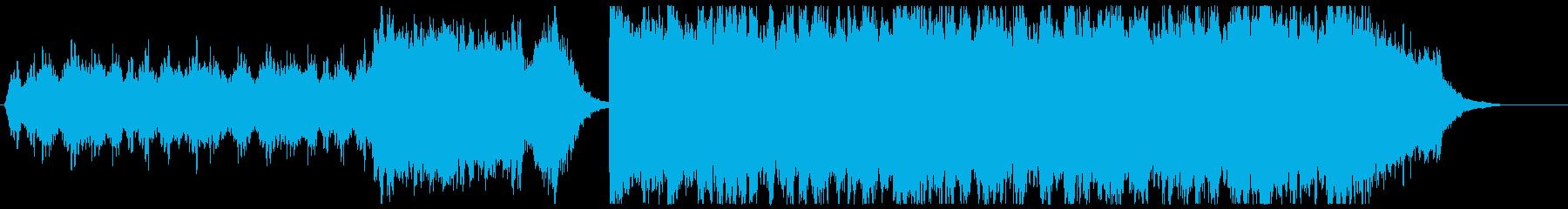 ピアノとストリングスのクラシックポップの再生済みの波形