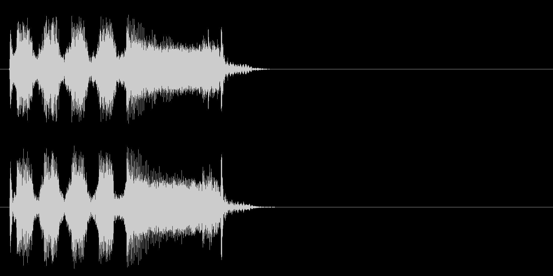 ハード・ギター炸裂のロックなジングルの未再生の波形