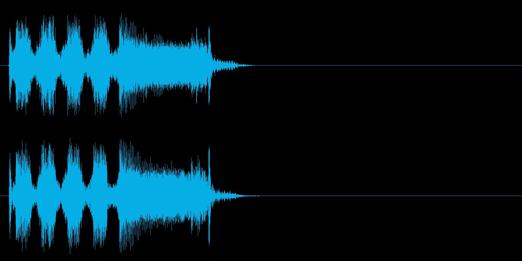 ハード・ギター炸裂のロックなジングルの再生済みの波形