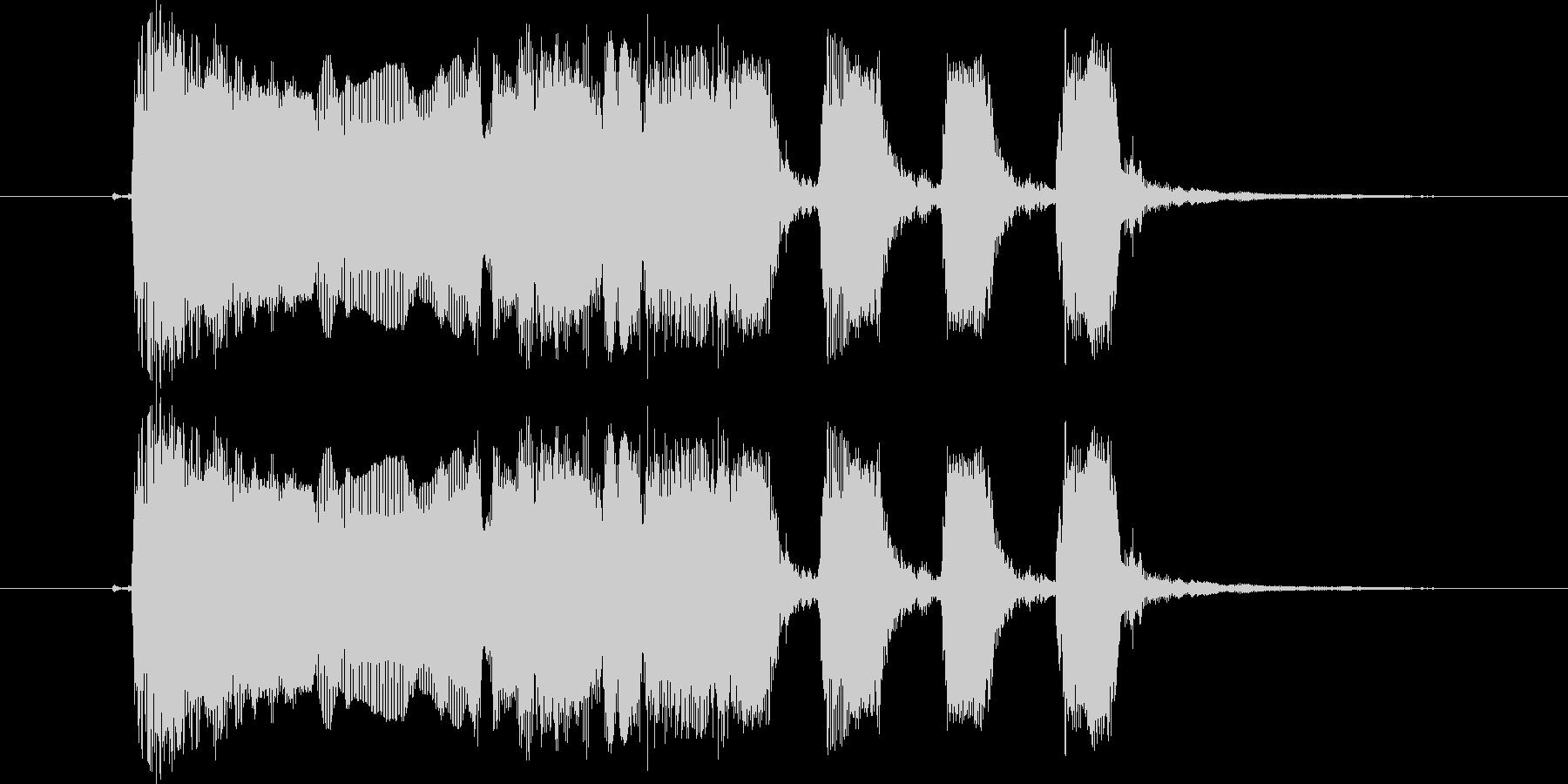 ギターフレーズ011の未再生の波形