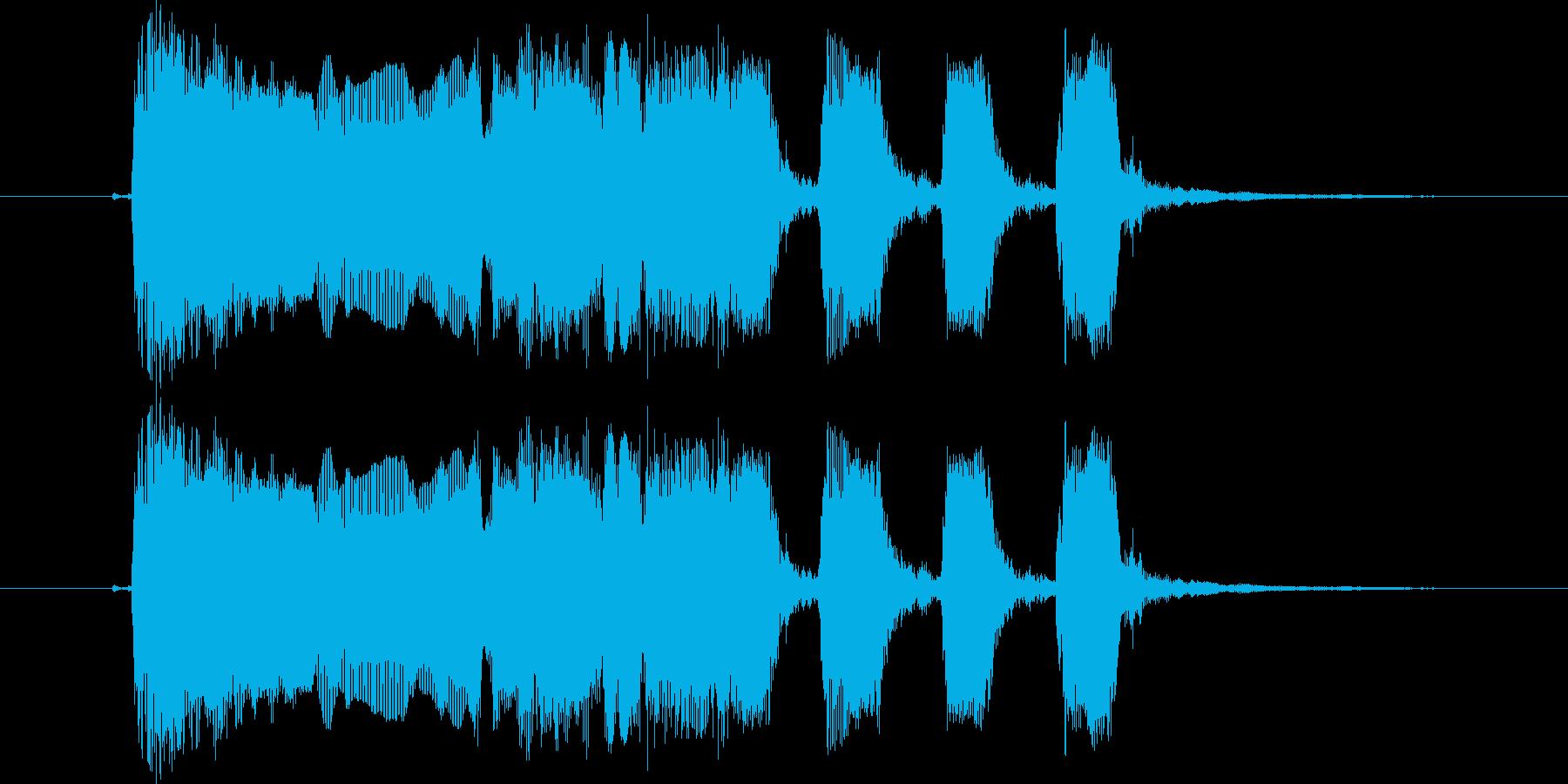 ギターフレーズ011の再生済みの波形