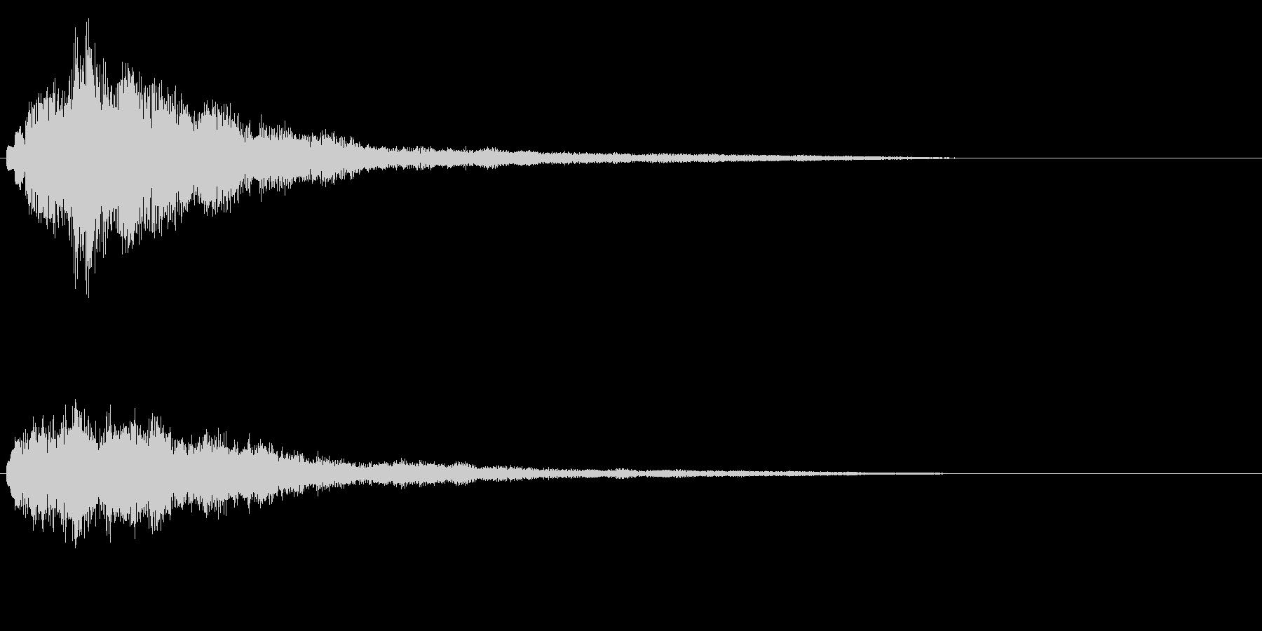 明るいテロップ音 ボタン音 決定音!1cの未再生の波形