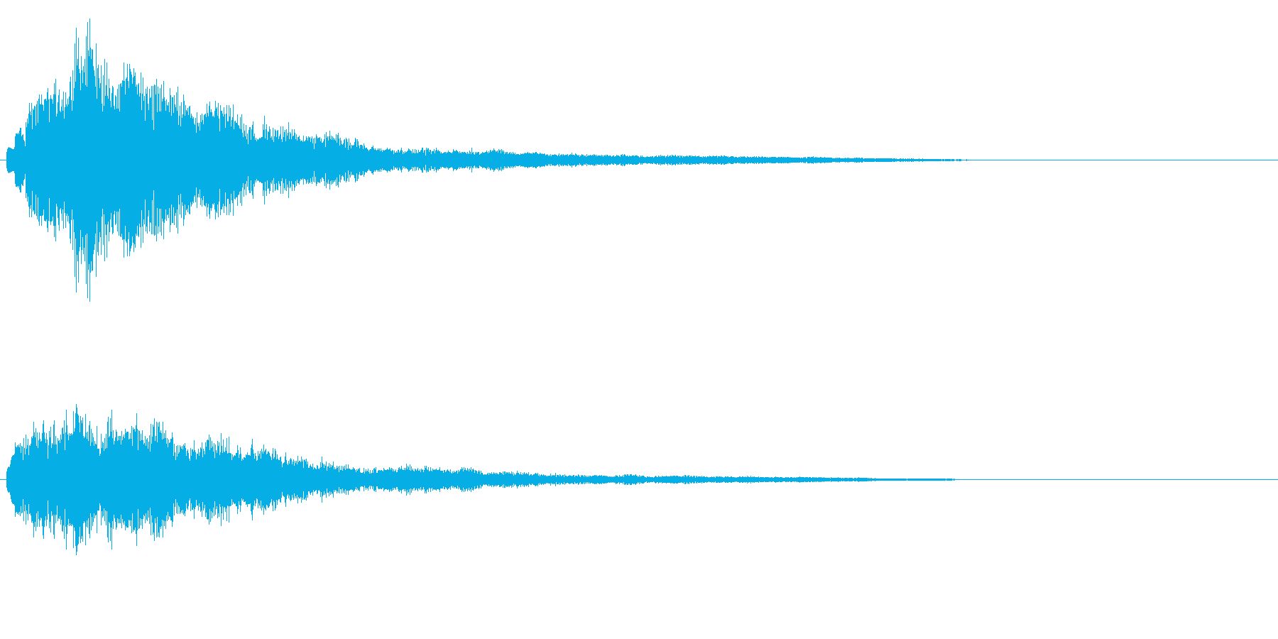 明るいテロップ音 ボタン音 決定音!1cの再生済みの波形