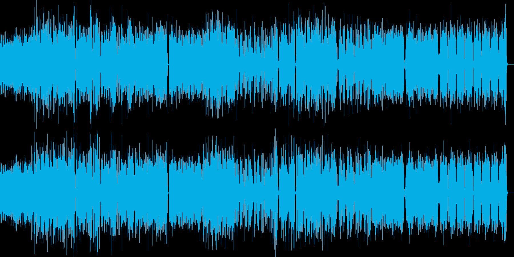躍動感 おしゃれジャズ 二次会 バンド風の再生済みの波形