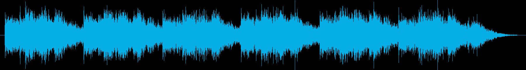 ホラー系アンビエントなサウンドの再生済みの波形